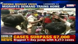 Covid-19 Lockdown: Migrants Gather At Chennai's MGR Railway Station Demanding To Go Back Home