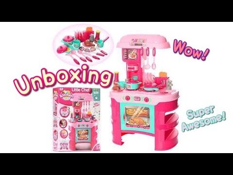 Little Chef Play Set Kitchen CookUnboxing Planet Moni Toys