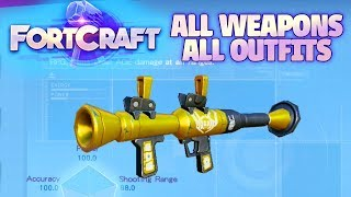 FORTCRAFT - ALL WEAPONS / ALL OUTFITS / ALL SKINS (Fortnite Mobile Clone)