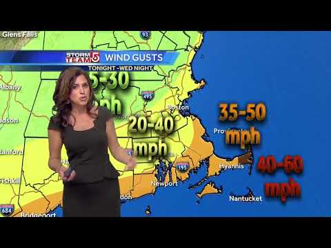 Video: Winds start to pick up, rain moves in