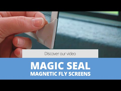 Magnetic, Retractable Fly Screens, Double Glazing, Distributors & suppliers - MAGICSEAL