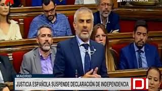 España: Tribunal Constitucional suspende independencia de Cataluña 2017 Video
