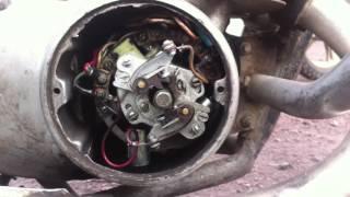 смотрите как должно быть отрегулировано контактное зажигание на мотоцикле ИЖ Юпитер