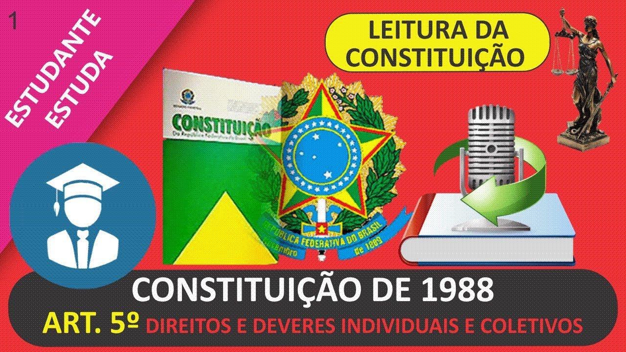 art 5 direitos e deveres individuais e coletivos leitura da