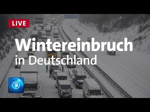 Wintereinbruch in Deutschland - Verkehrschaos, Bahnprobleme und keine Entwarnung