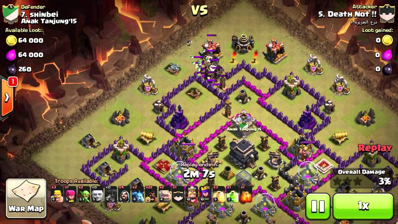 clash of clans 3 star town hall 9 attacks go hog youtube