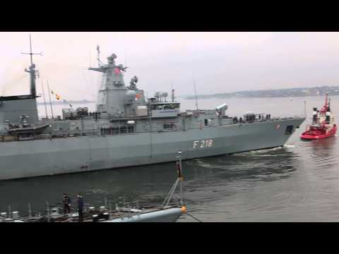 German naval ship leaves Oslo port