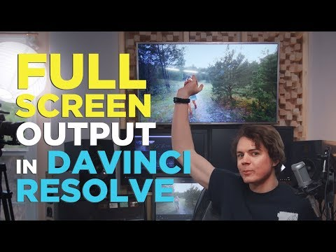 How To Get Full Screen Playback On A Seperate Monitor In Davinci Resolve