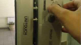 Unitouch - кодовый замок на стеклянную дверь
