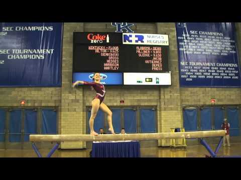 Alabama Gymnastics: Kim Jacob on the Balance Beam at Kentucky