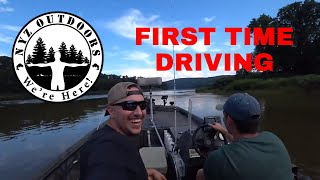 FIRST TIME FISHING THE RIVER with NYZ OUTDOORS