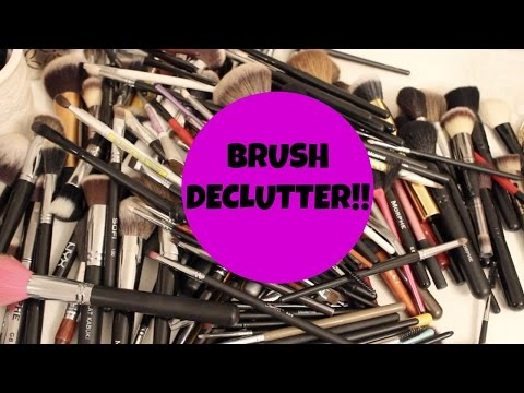 Makeup Mayhem-BRUSHES!! Declutter & Brush Collection!
