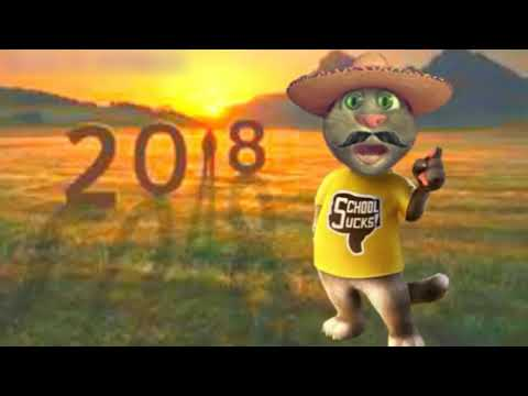 Happy New Year 2018 / Funny Cat / Must Watch And Happy New Year In Advanced Whatsapp Status