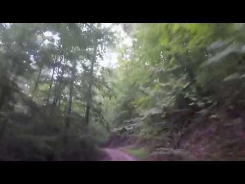 Riding down Bear Run, WV