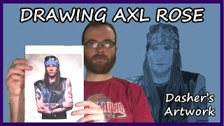 DRAWING AXL ROSE (late 1980s/early 1990s)