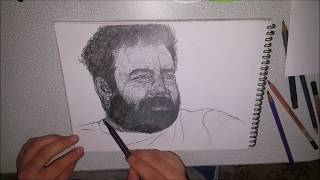 Ahmet Kaya(karakalem portre calişması)