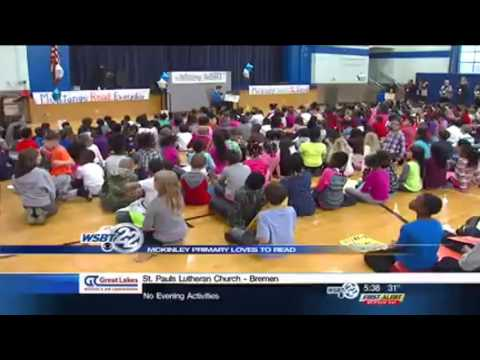I Love to Read: Pete Byrne visits McKinley Primary Center