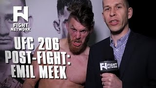 UFC 206: Emil Meek on Win Over Jordan Mein, Trimming Beard and More