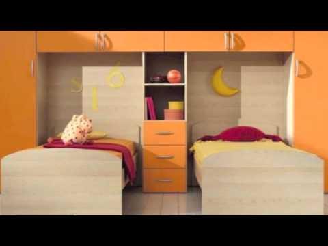 Cameretta con doppio letto completa con reti a doghe di faggio ...