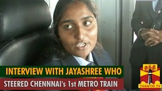 Exclusive Interview with Jayashree Who Steered Chennai