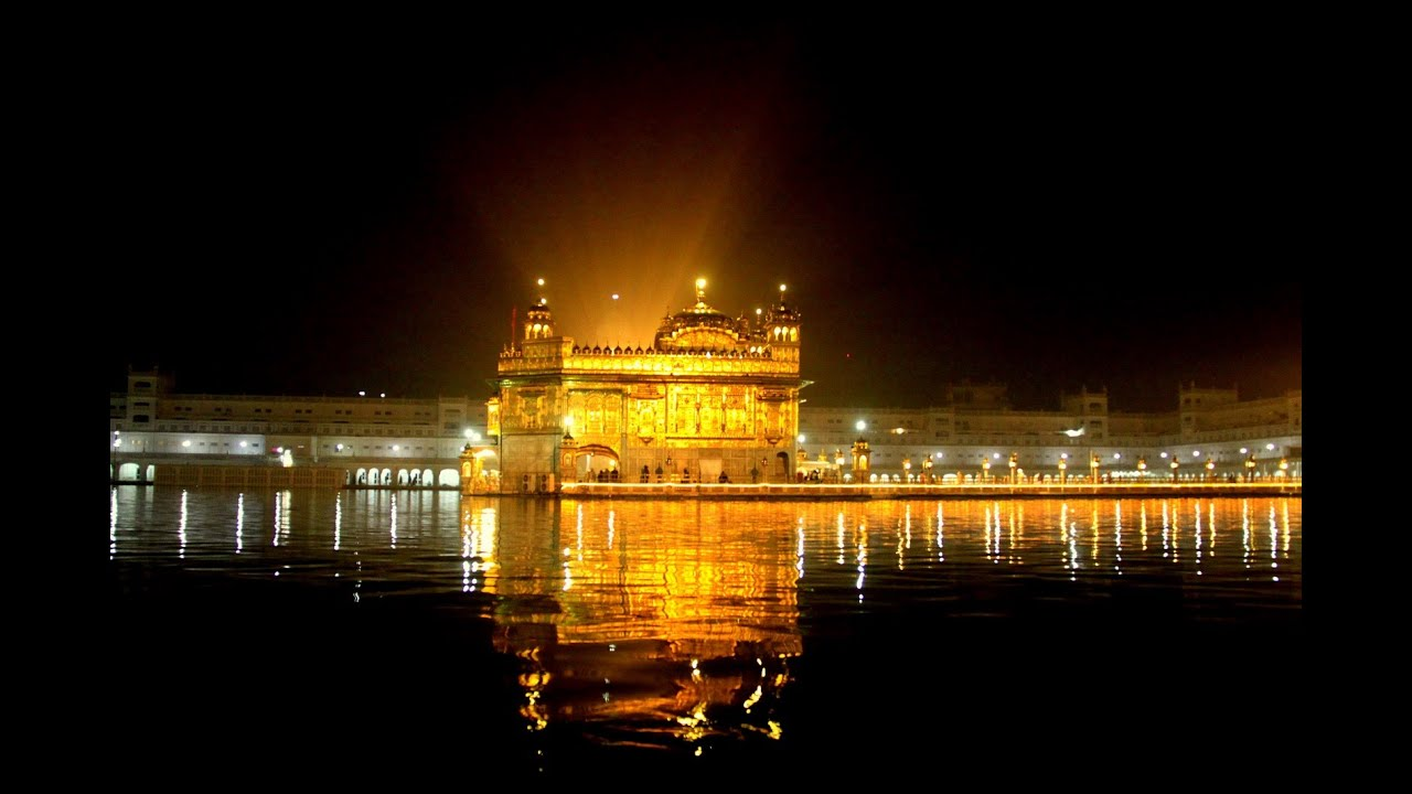 golden temple night view, golden temple amritsar - youtube