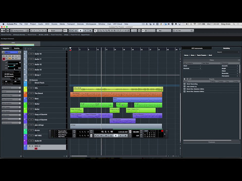 Cubase 8.5 Track and User Interface Enhancements