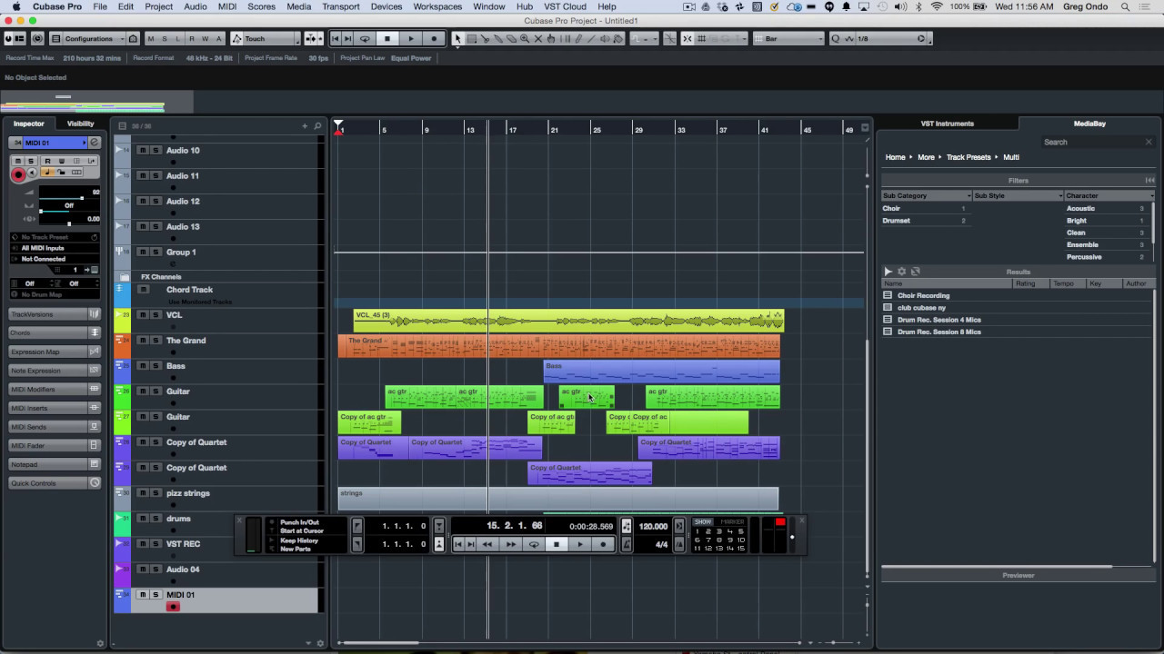 Track and User Interface Enhancements | Cubase Pro 8.5 Q&A with Greg Ondo -  YouTube
