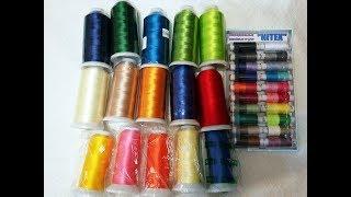 Обзор вышивальных ниток, которые я купила для вышивки бисером.