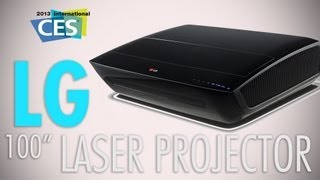 LG Laser Projector_ The Evolution Of Close Range Projection Live At CES 2013