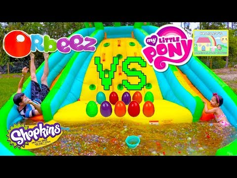 BIGGEST ORBEEZ POOL & BALLOONS 1,000,000+ ORBEEZ  SURPRISE TOY GAME SURPRISE EGGS MyLittlePony Toys