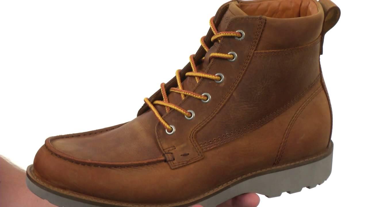 e5b3b75f76 ECCO Holbrok Moc Toe Boot SKU:8551430 - YouTube