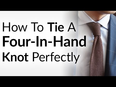 How to tie a necktie the four in hand knot easily tie four in hand click here to watch the video on youtube how to tie a tie four in hand ccuart Image collections