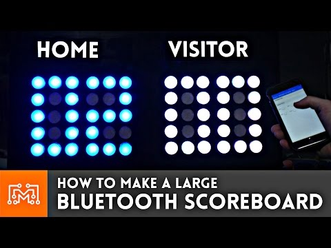 How to make a large Bluetooth scoreboard