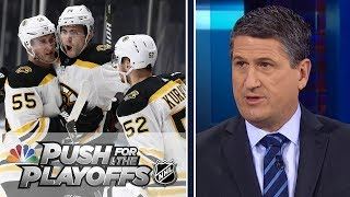 Bruins poised for playoff run, can Golden Knights repeat? | Push for the Playoffs Ep. 3 | NBC Sports