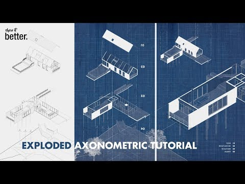 Tutorials for Post Production Editing of Architecture Drawings in Photoshop