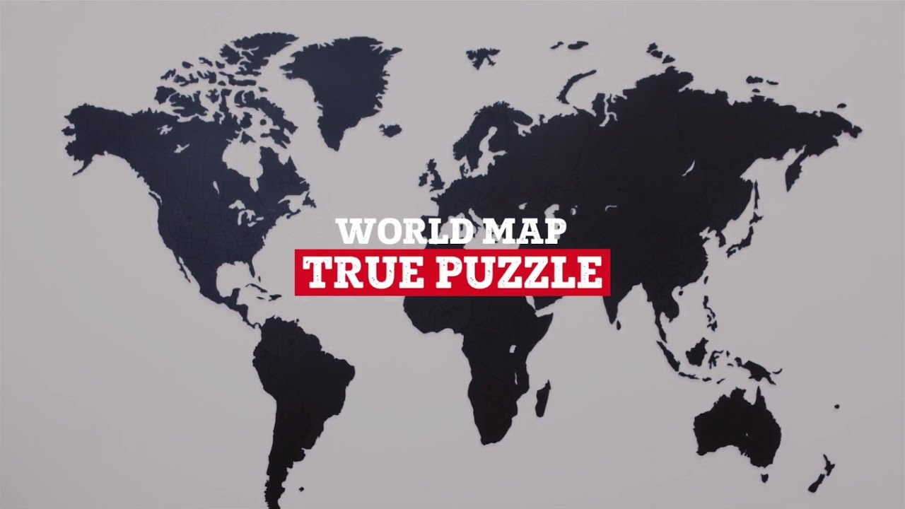 World map true puzzle youtube world map true puzzle gumiabroncs Images