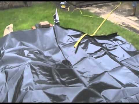 Pond liner installation guide youtube for Garden pond installers
