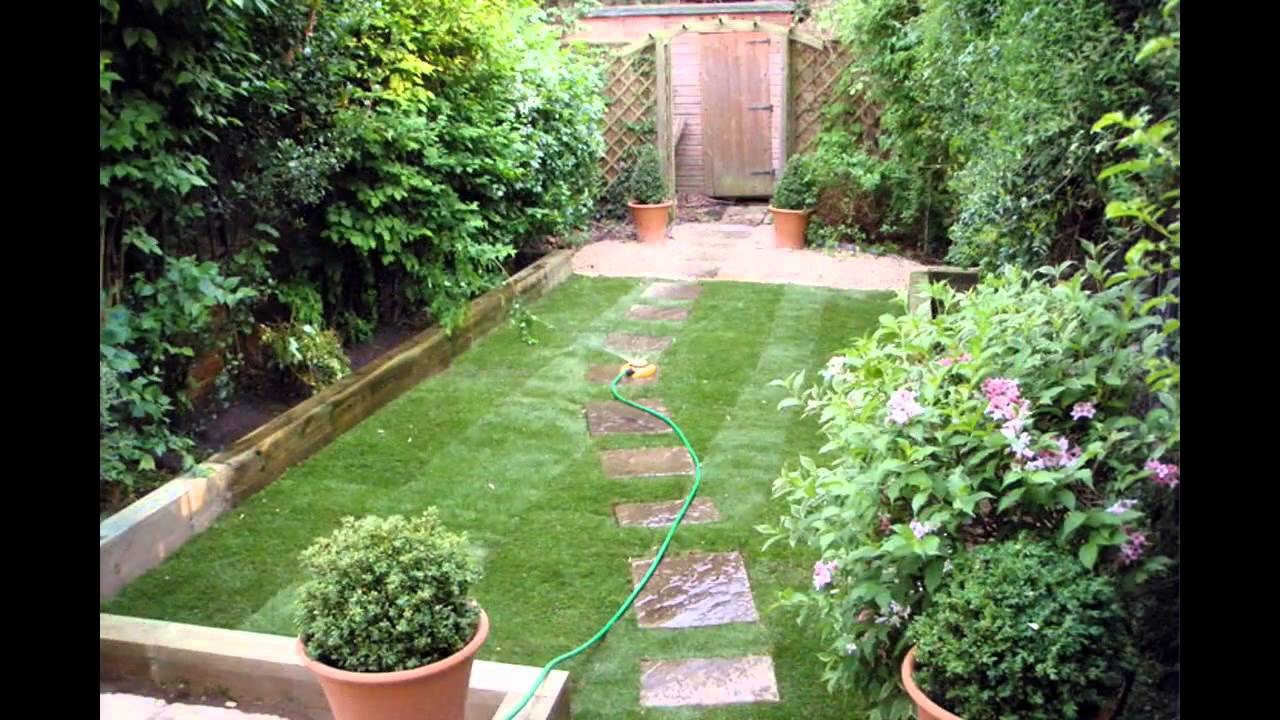 Small space garden design ideas - YouTube