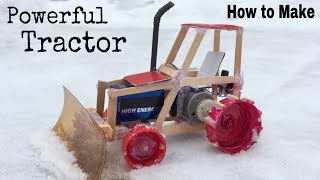 How to Make a Car (Electric Tractor) - snow cleaning car - Tutorial