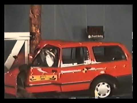 VTI - crash test into tree at 50/70/90 km/h