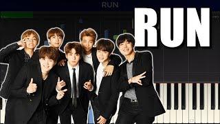 Download Lagu BTS - RUN Piano Cover/Piano Tutorial with Sheet Music mp3