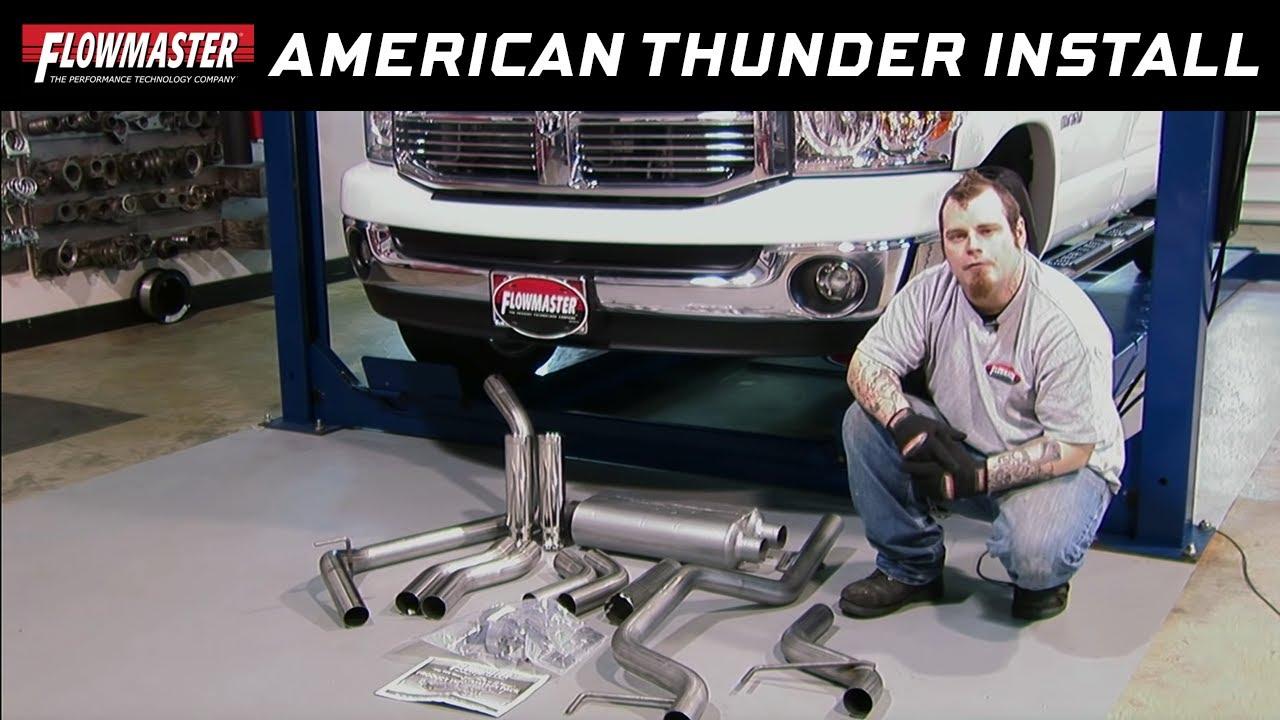 2006 08 dodge ram 1500 5 7l american thunder cat back exhaust system 817423
