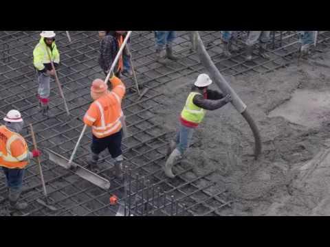 SLC Terminal Construction B-Roll (Spring 2017 Concrete Pour)