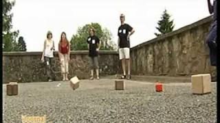 Championnat de Belgique de pétanque à boules carrées- interview de TV Lux