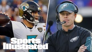 Can Blake Bortles Pull Off Upset Against Pats? Is Pat Shurmur A Good Fit? | PFN | Sports Illustrated thumbnail