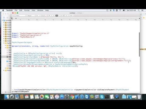 iOS Paypal Integration Objective-C