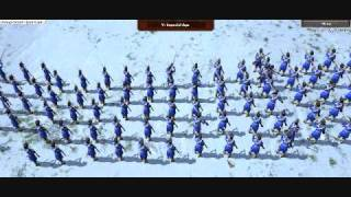 age of empires 3 online - huge battle