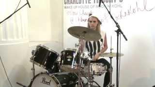 Cara Delevingnes Drumming Debut at Charlotte Tilburys House of RockNKohl  CTilburyMakeup