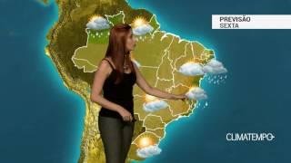 Previsão Brasil - Massa de ar seco continua forte