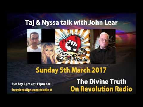 Taj and Nyssa talk with John Lear on The Divine Truth on Revolution Radio